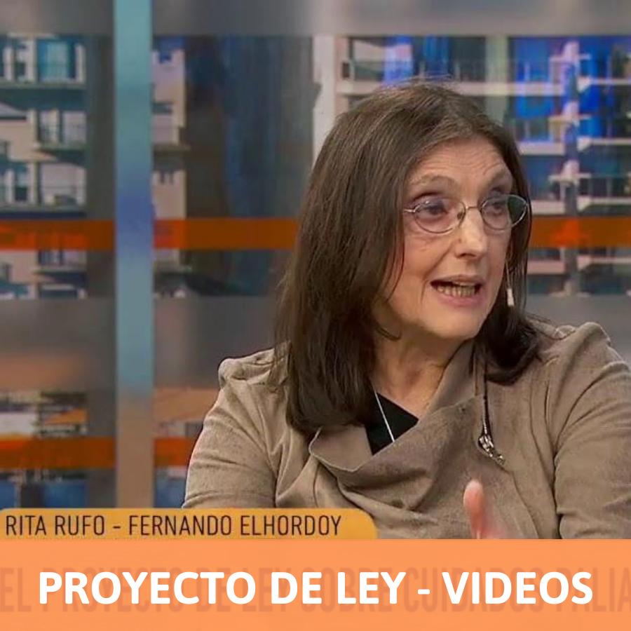 Apariciones en TV y videos por el Proyecto de Ley